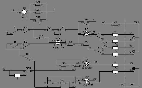 Схема включения огней